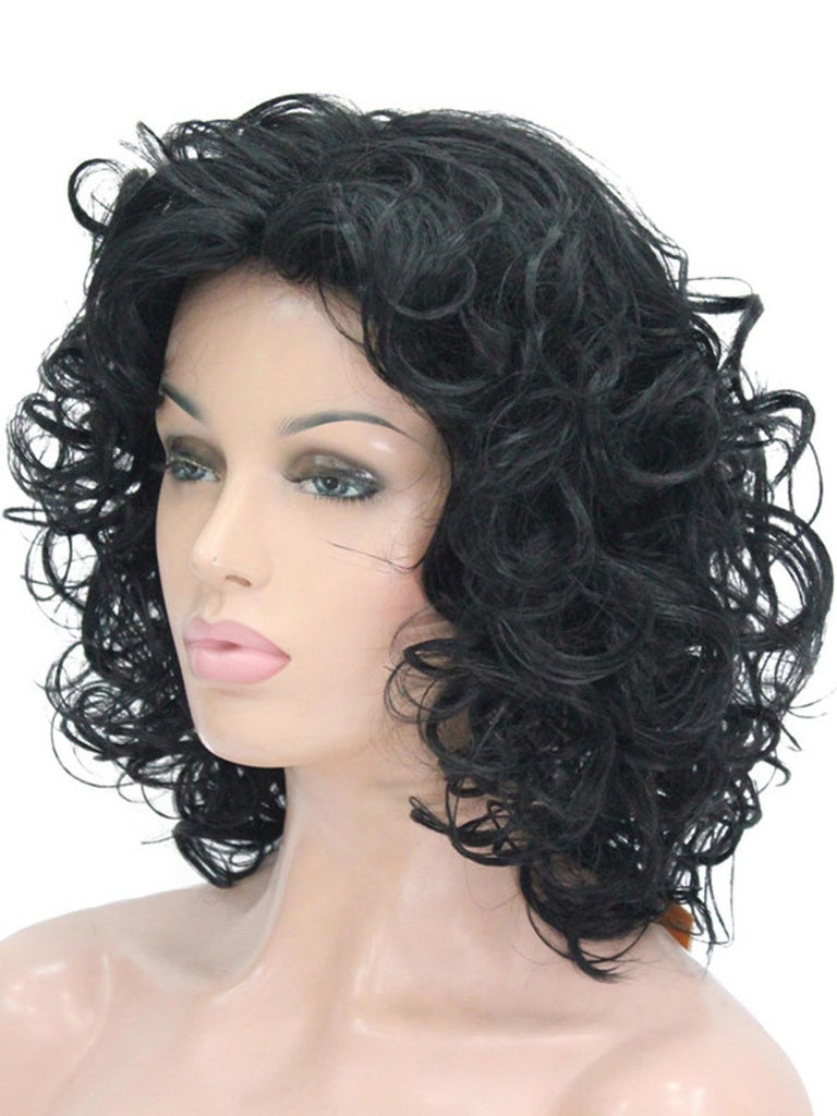 Retro Mid Length Whole Curly Wig
