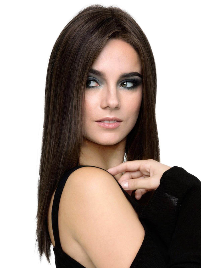 Vintage Long Straight Natural Synthetic Wig