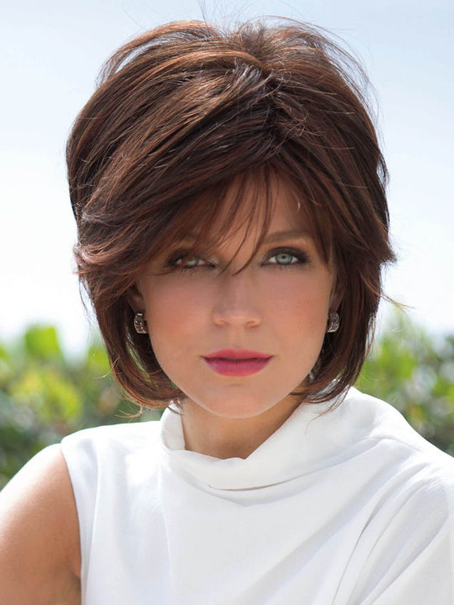 Vintage Bob Color-mix Natural Synthetic Wig