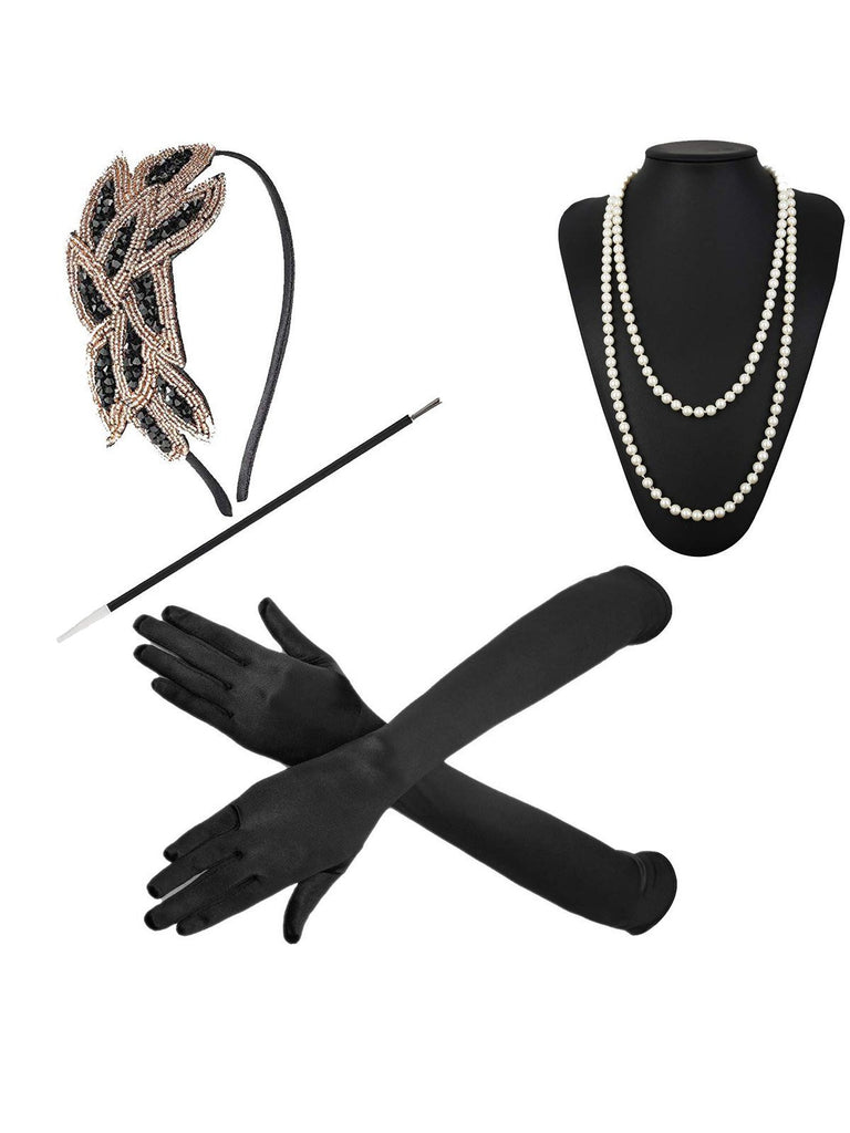 4PCs 1920s Accessories Set