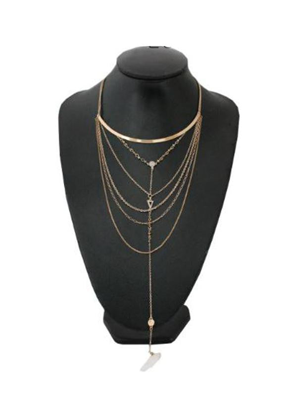 Multilayer Rhinestone Gemstone Necklace