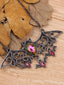 Steampunk Halloween Bat Rhinestone Necklace