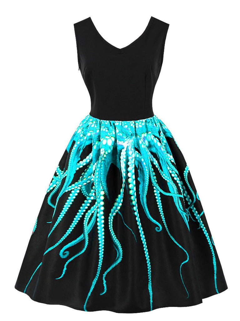 1950s Octopus Pendulum Swing Dress