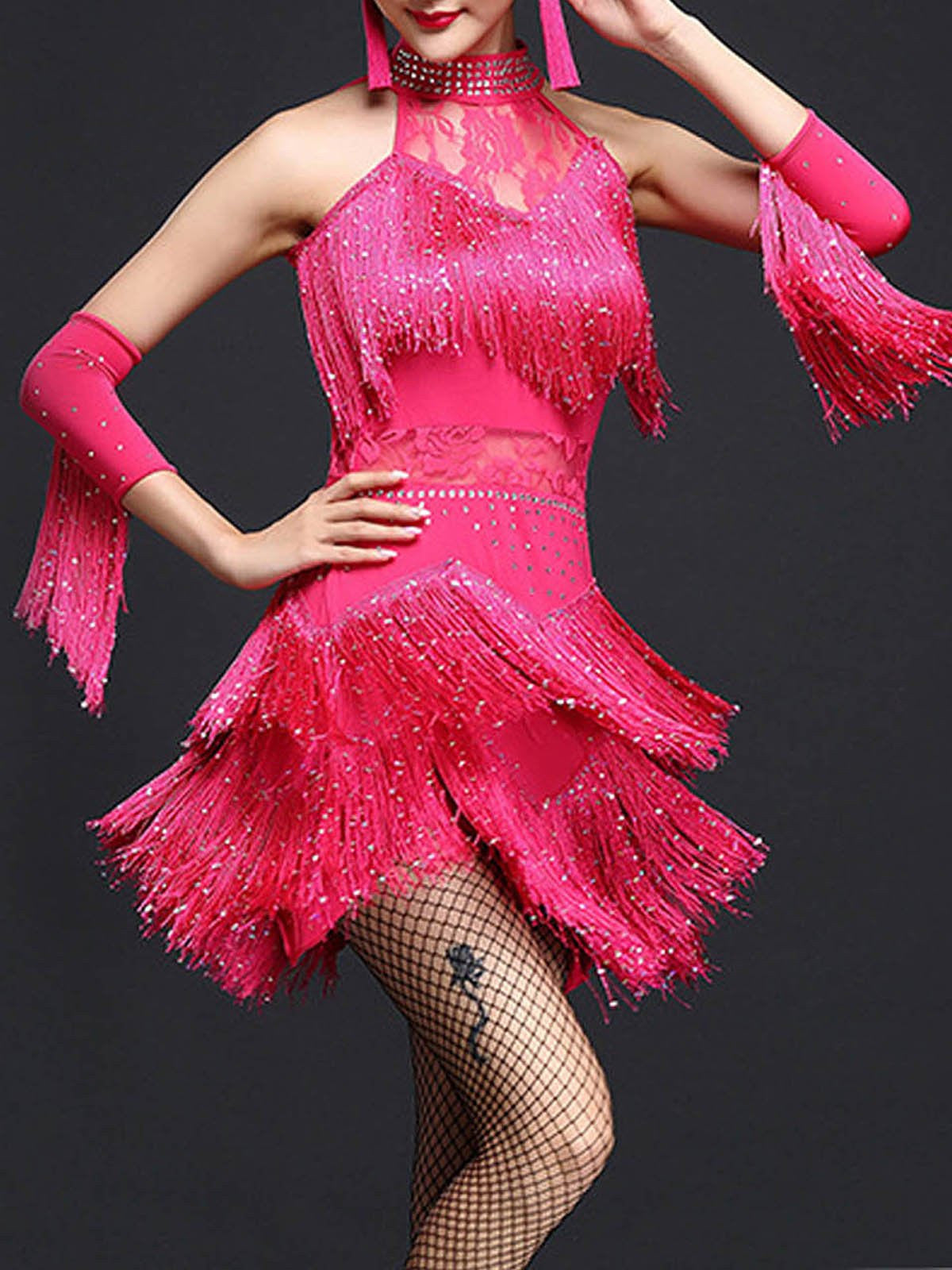 81a5266be8c4 1920s Fringed Dancing Dress – Retro Stage - Chic Vintage Dresses and ...