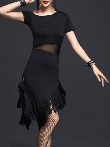 1920s Fringed Latin Dancing Dress