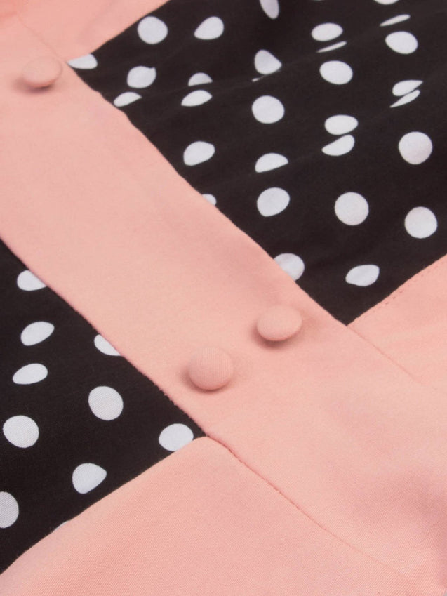 1950s Polka Dot Patchwork Dress