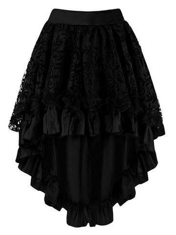 Black Halloween Steampunk Gothic Skirt