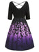 Purple 1950s Halloween Bat Swing Dress