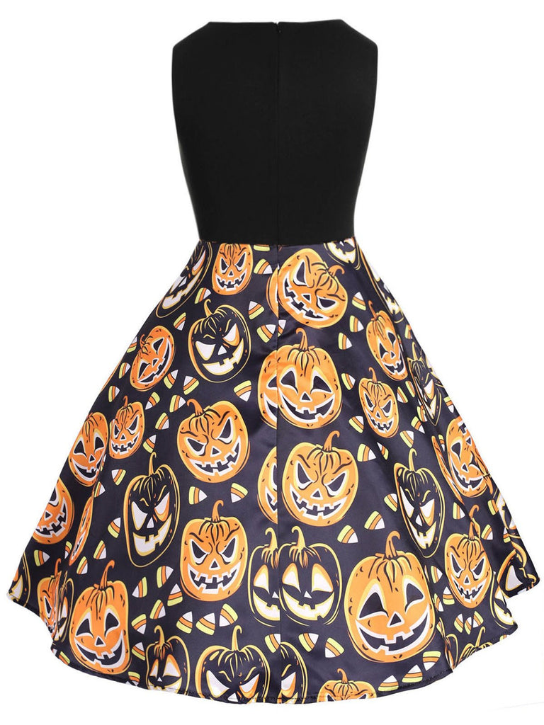 Black 1950s Pumpkin Plus Size Dress