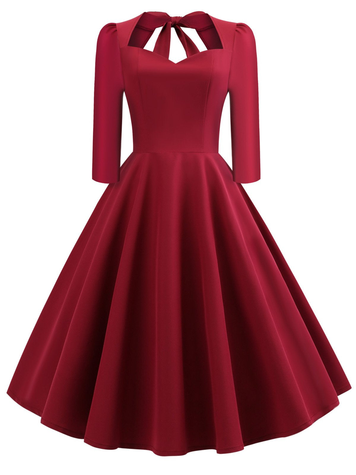431e218ee4c8 1950s Solid 3/4 Sleeve Dress - Retro Stage - Chic Vintage Dresses ...