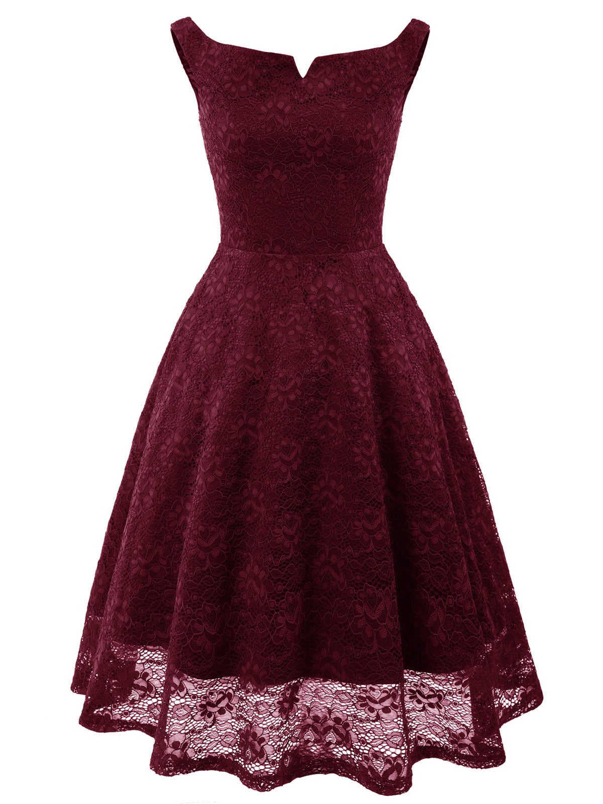 d468381b7977 1950s Lace Floral Swing Dress - Retro Stage - Chic Vintage Dresses ...