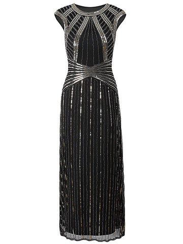 1920s Beaded Sequin Dress