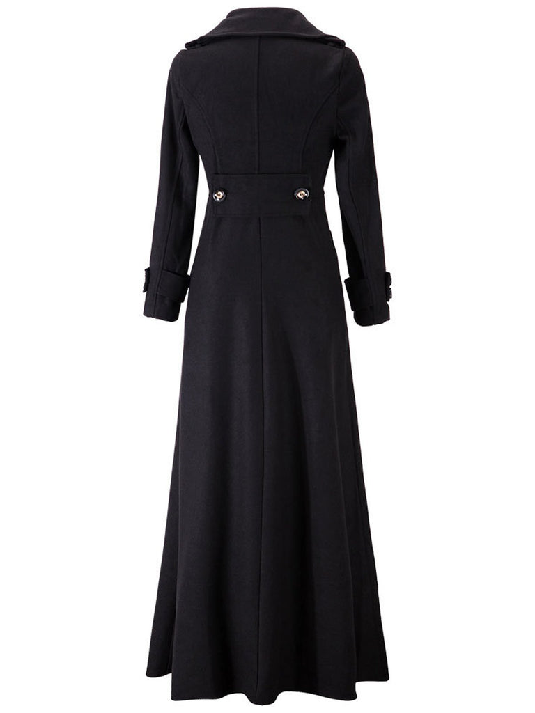 1950s Solid Long Sleeve Coat