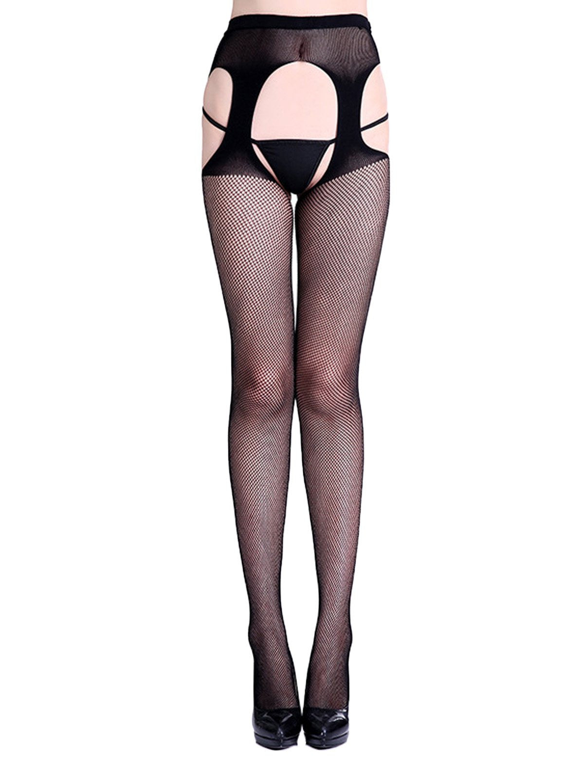 1af743d8e Lace Hollow Crotchless Fishnet Stockings – Retro Stage - Chic ...