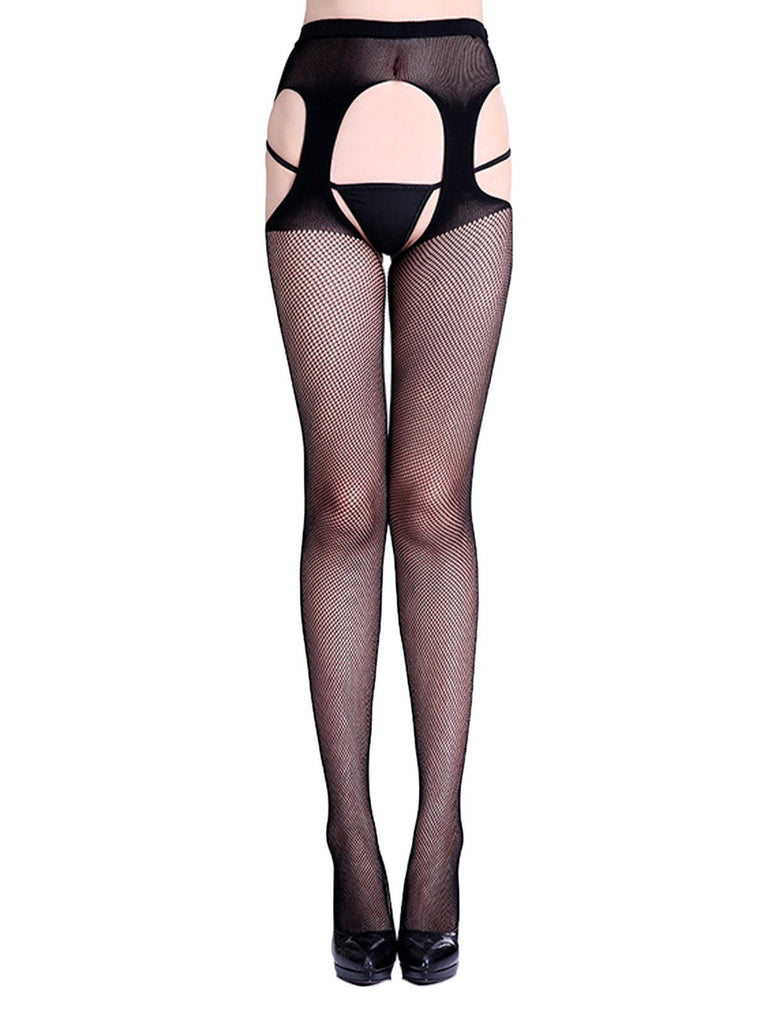 Lace Hollow Crotchless Fishnet Stockings