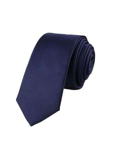Men's Solid Color Glossy Woven Tie