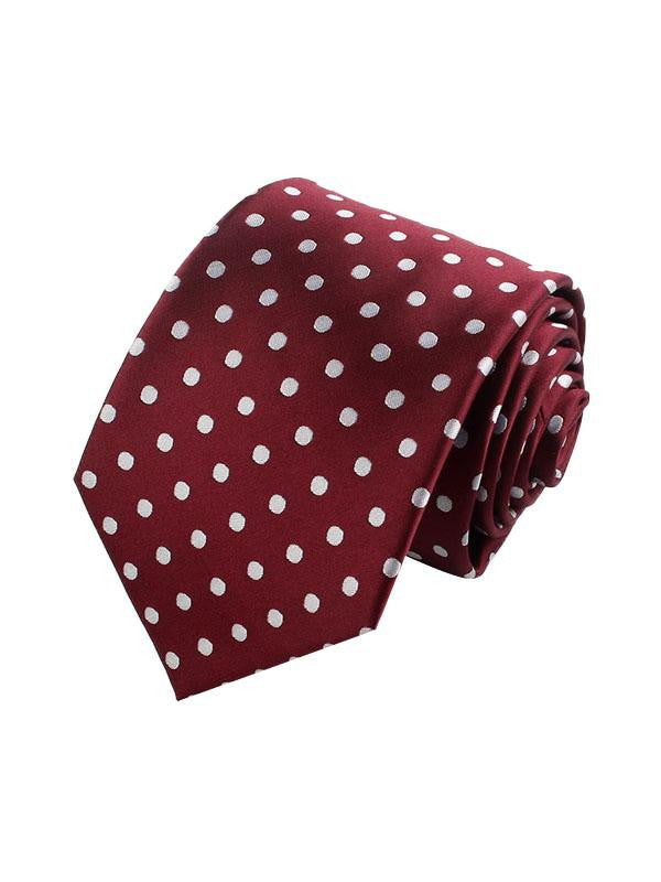 Men's Jacquard Polka Dot Tie