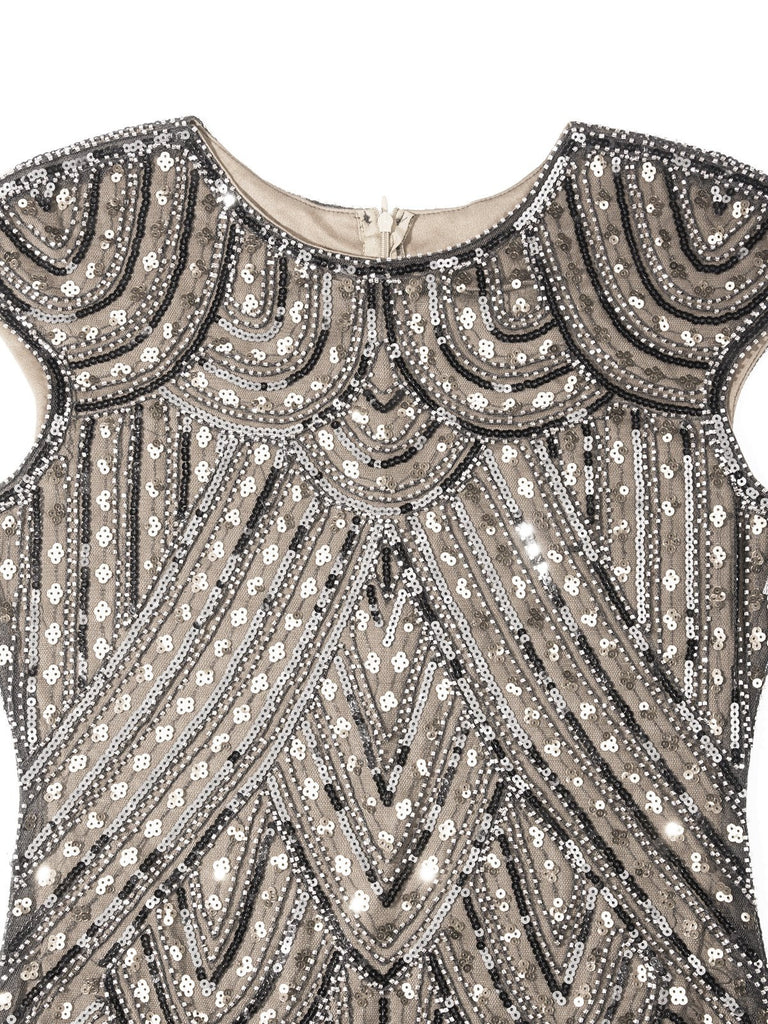 US Only 1920s Fringed Flapper Gatsby Dress