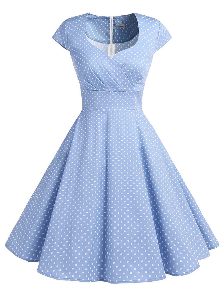 1950s Polka Dot Sweetheart Swing Dress