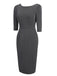 1960s Curvy Button Bodycon Dress