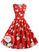 Red 1950s Christmas Santa Swing Dress