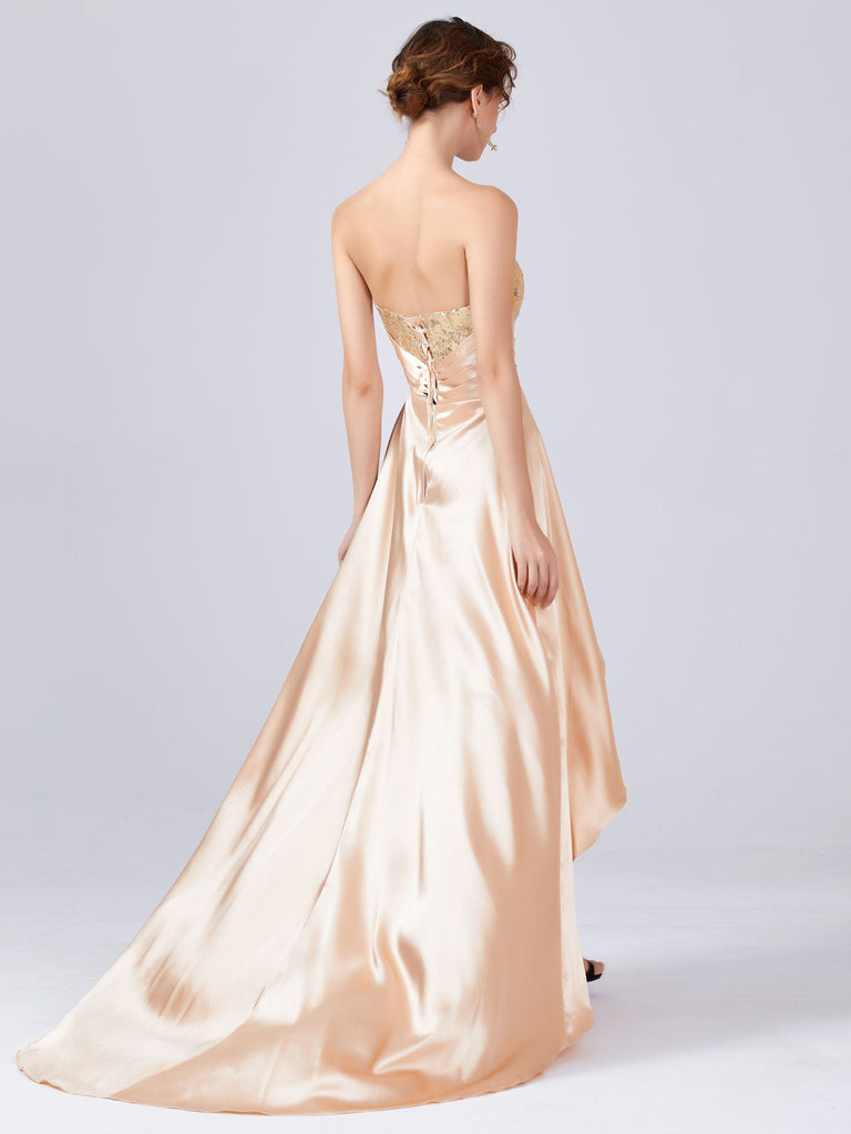 Sequined Long Tail Bridesmaid Dress