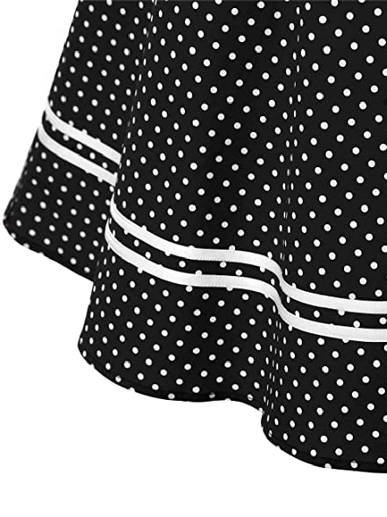 1950s Polka Dot Halter Swing Dress