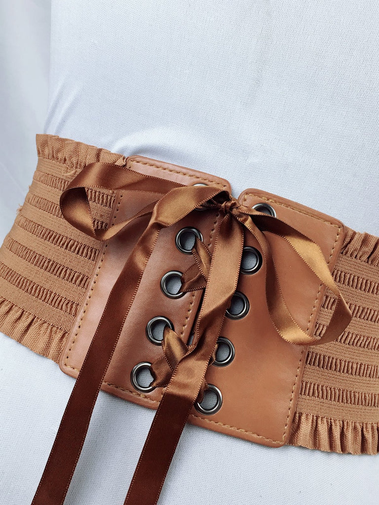 Vintage Bow Belt Lace Up Waistband