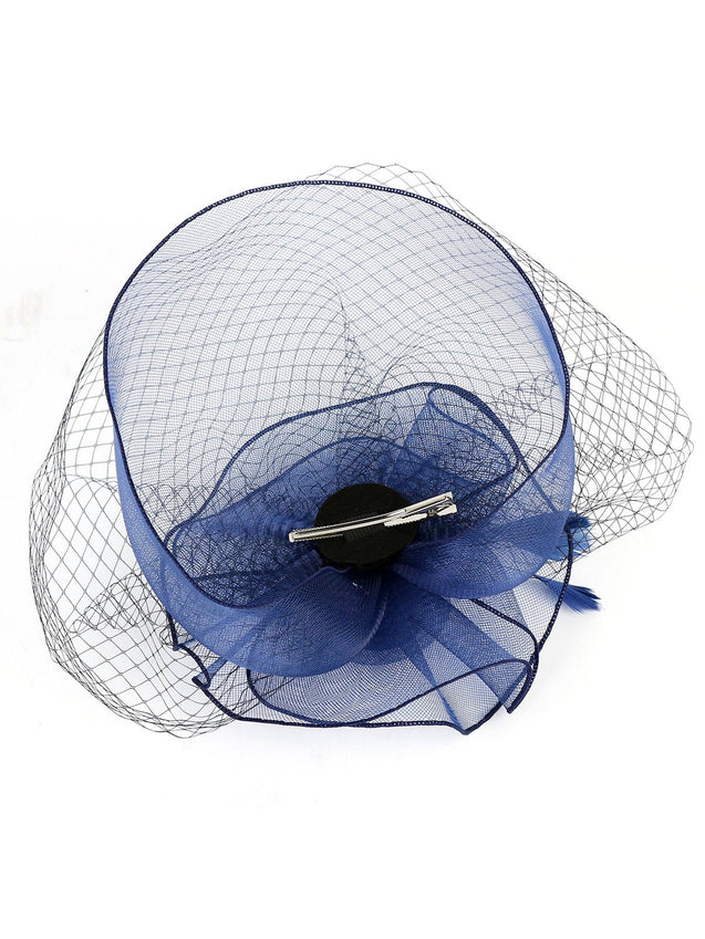 Vintage Mesh Feather Hair Clip Fascinator