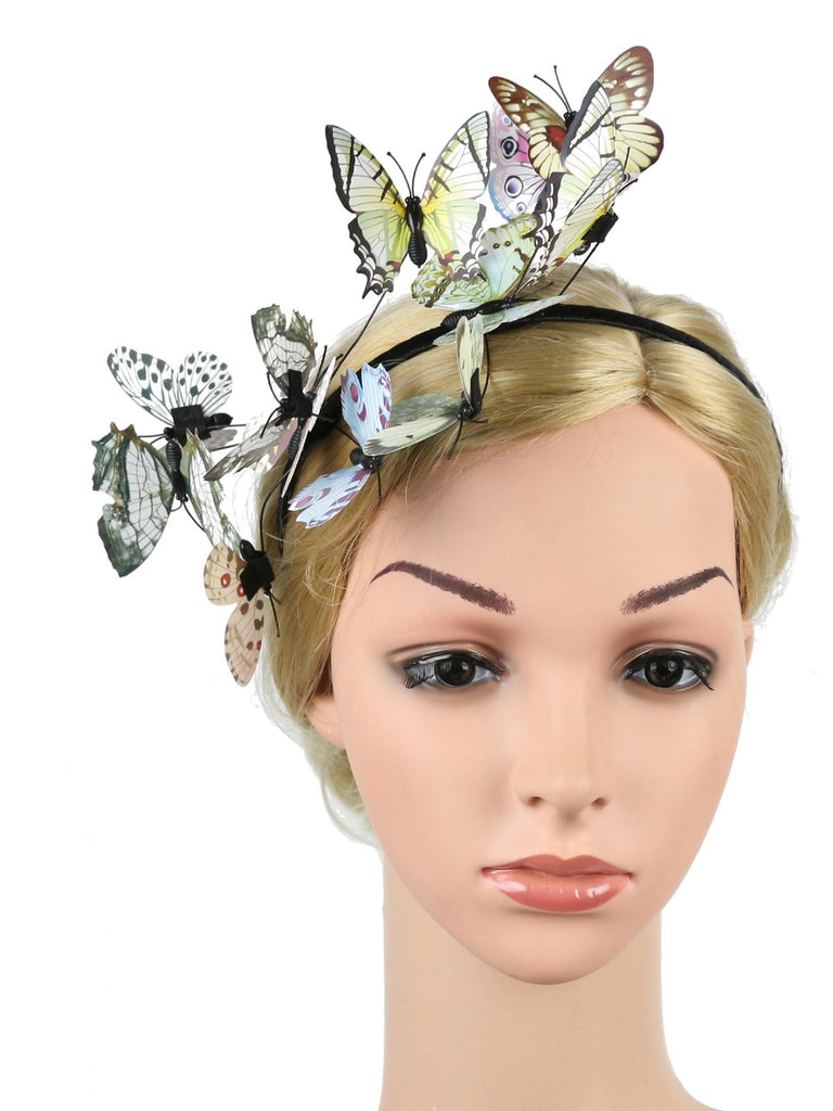 Vintage Colorful Butterfly Headband Hair Accessories