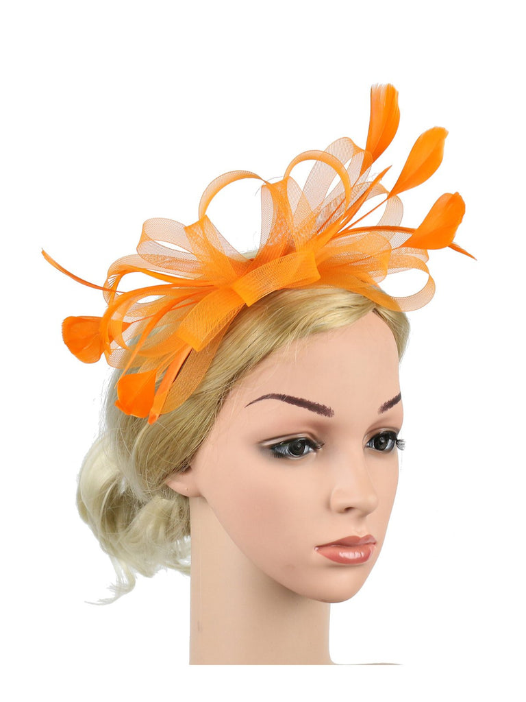 Vintage Flower Mesh Feather Headband