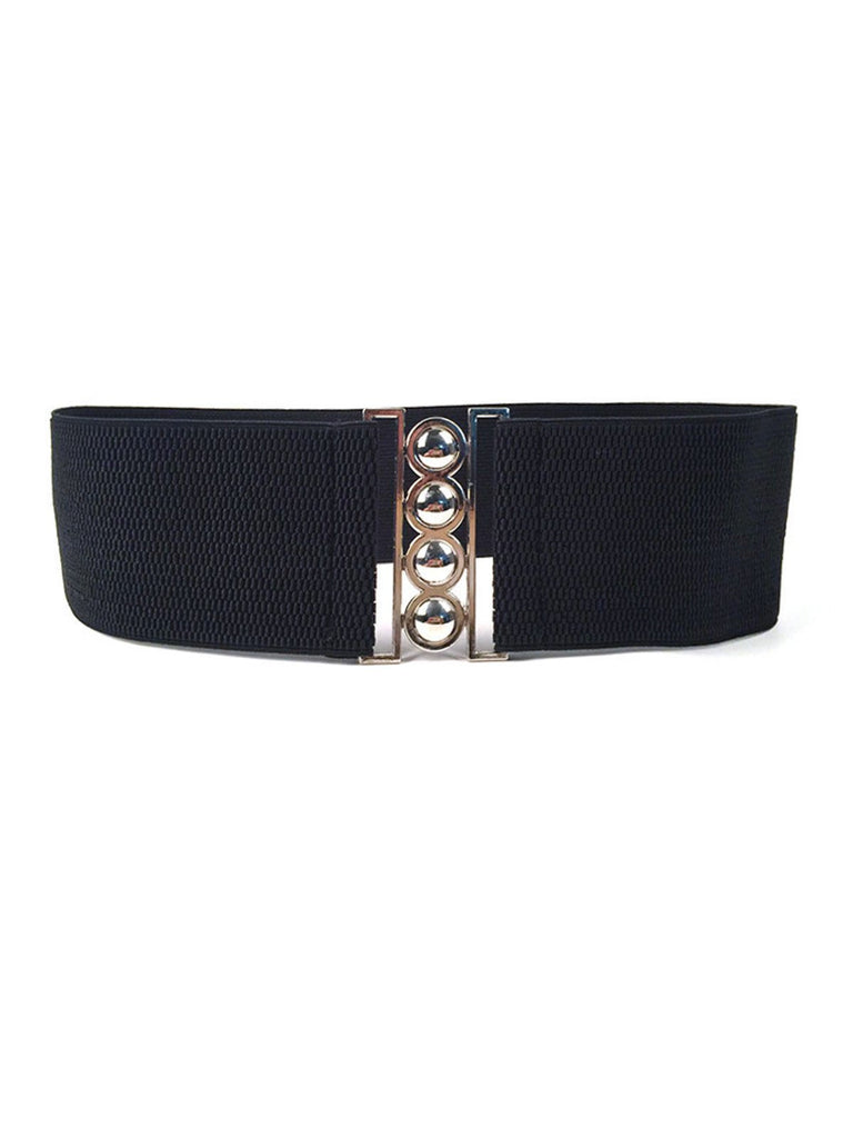 US Only Retro Wide Elastic Stretch Buckle Waistband