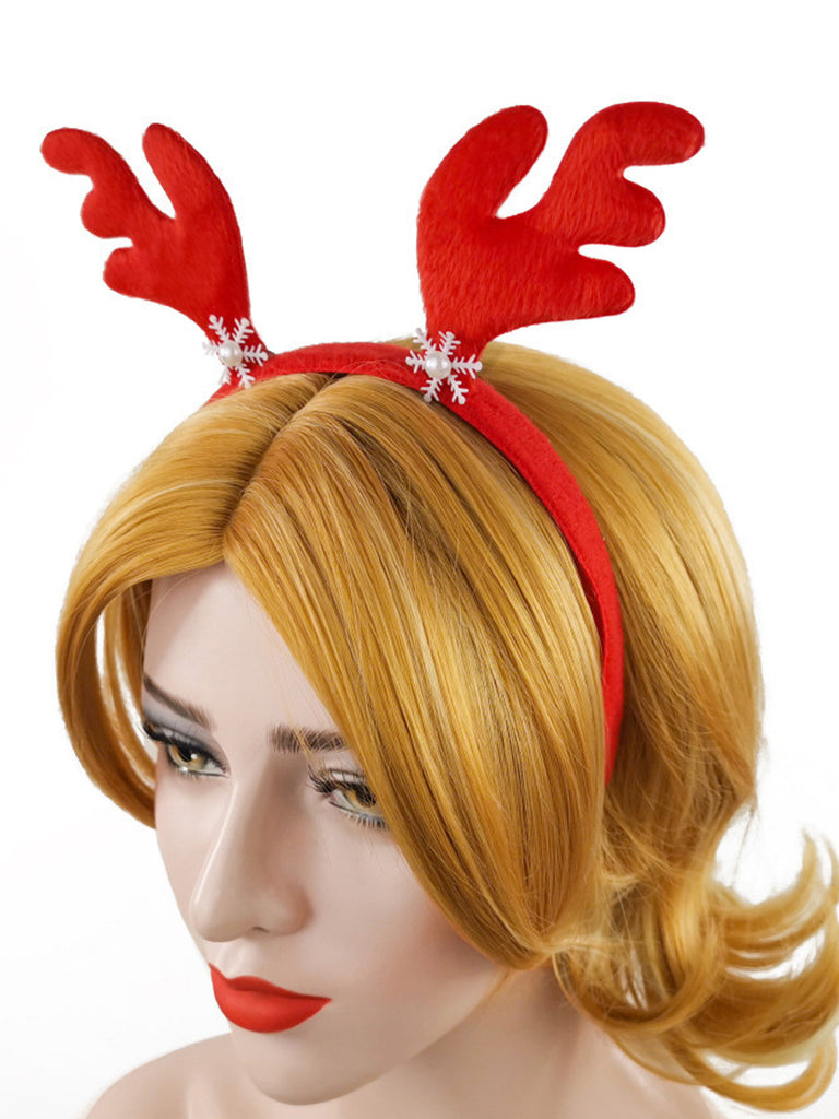 Christmas Snow Deer Horn Headband