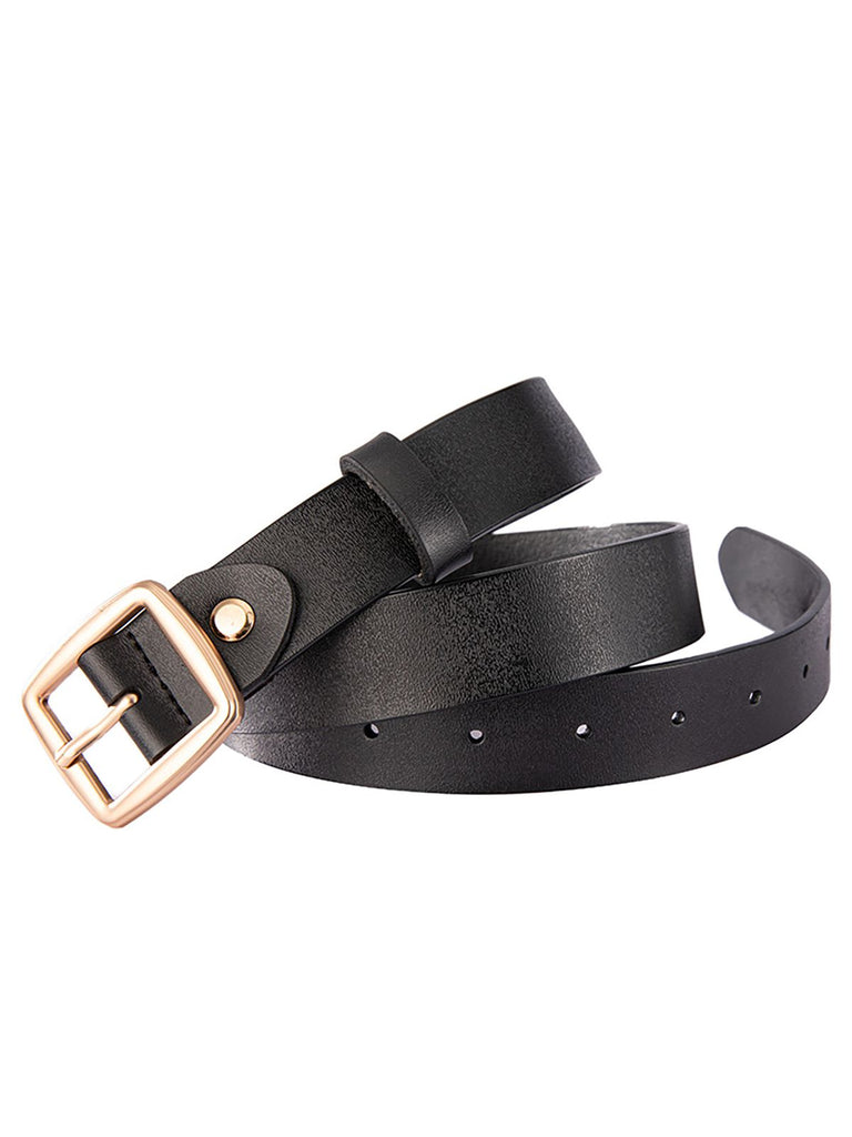 Retro Solid Leather Belt