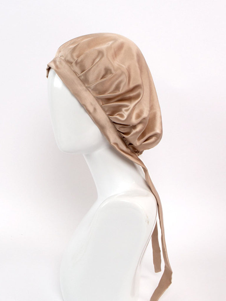 Classic Silk Sleep Cap with Ribbons