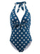 Halter Polka Dot One-Piece Swimsuit
