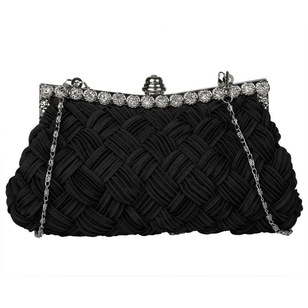 US Only Black 1920s Rhinestone Clutch Bag
