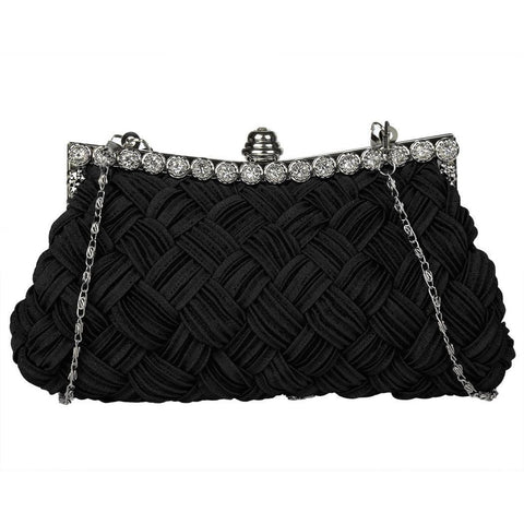Black 1920s Rhinestone Clutch Bag