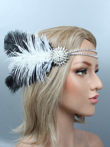 1920s Feather Headband