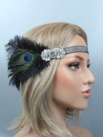 1920s Feather Flapper Headband