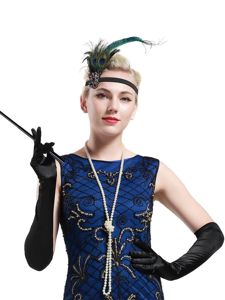 US Only Black 1920s Flapper Costume Set