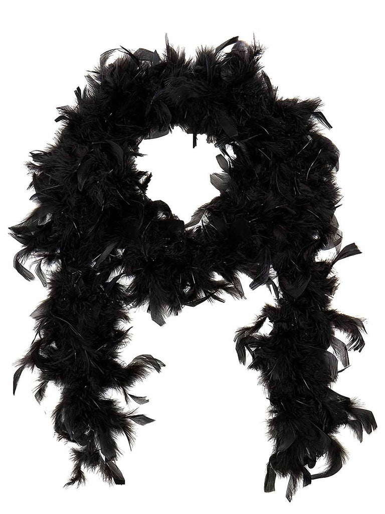 US Only Black 1920s Feather Boa Costume Accessory