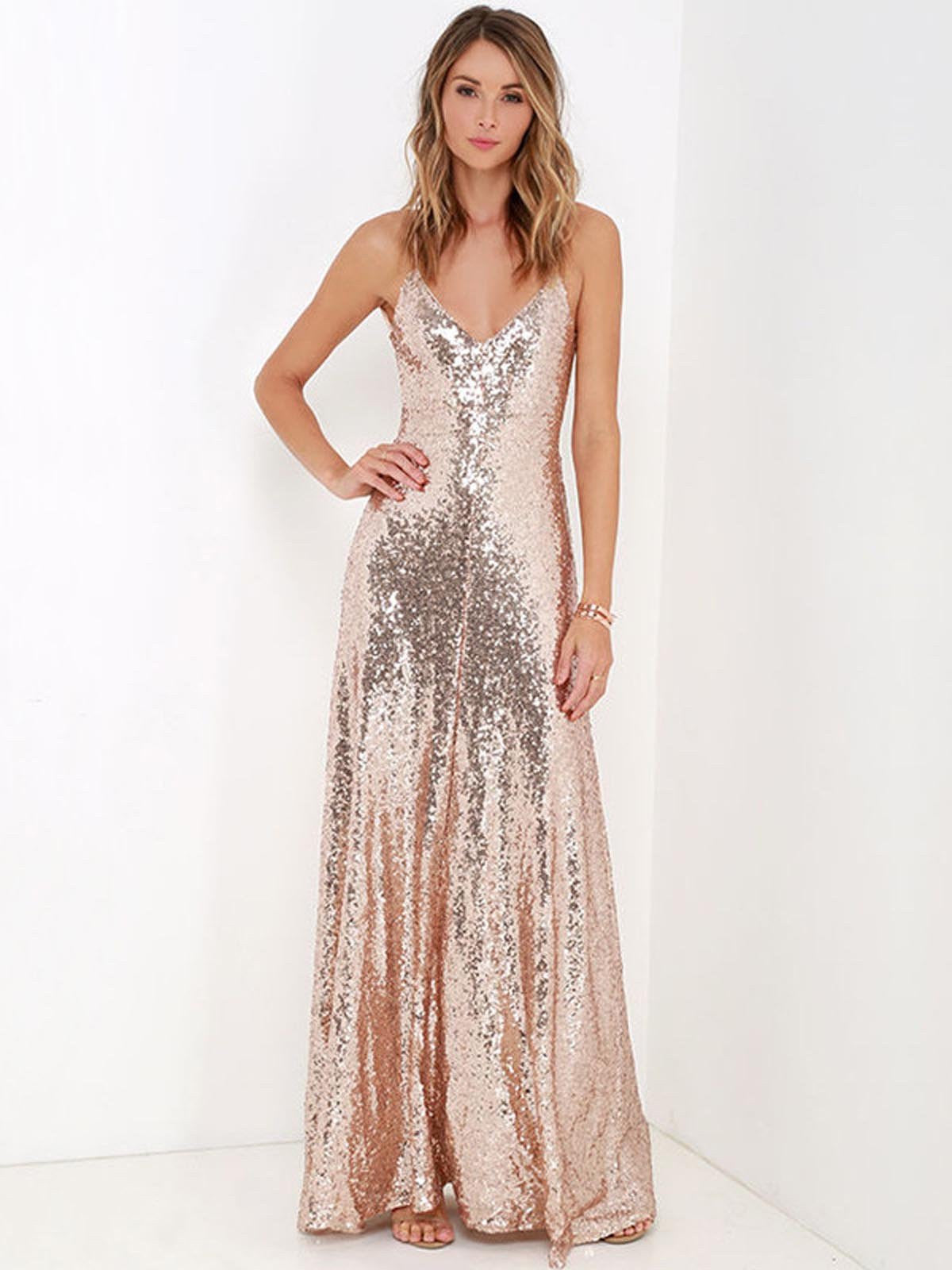 8321fb003 Pink 1920s Backless Sequin Dress - Retro Stage - Chic Vintage ...