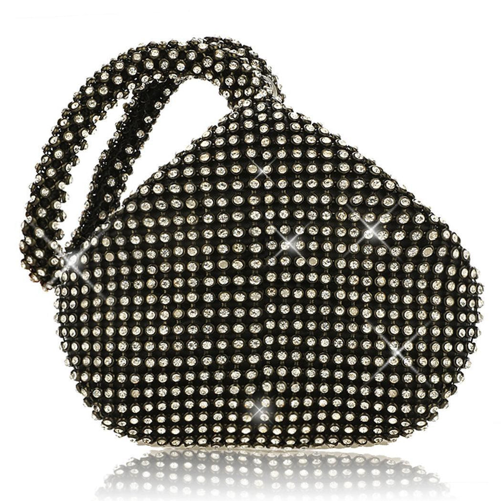 Black 1920s Heart Shape Clutch Bag