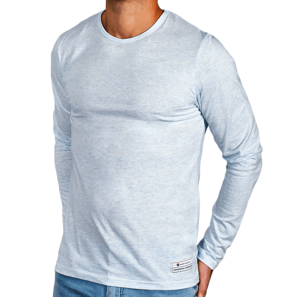 Ice Blue Men's Long Sleeve Lightweight Shirt - Aussie made - aussie essence - Castaway Ice