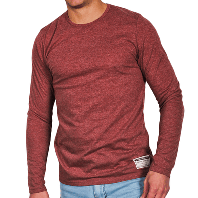 Maroon Men's Long Sleeve Lightweight Shirt - Australian made - aussie essence - Castaway Maroon