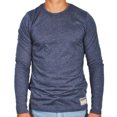 Navy Blue Men's Long Sleeve Lightweight Shirt - Australian made - aussie essence - Castaway Navy