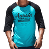 Aqua Graphic Print Men's Raglan Australian Made