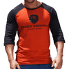Red Graphic Print Men's Raglan Australian Made