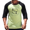 Yellow Graphic Print Men's Raglan Australian Made
